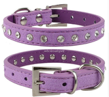 Multi Color Rhinestone Pet Collars