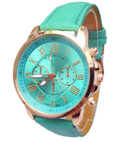 Women's Leather Quartz Watch