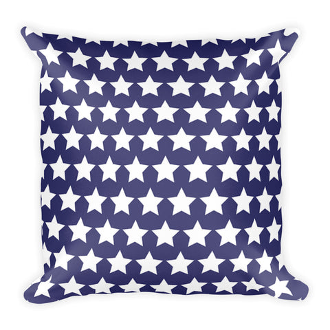Blue Stars Double-sided Square Pillow