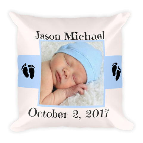 Custom Image Double-sided Square Pillow