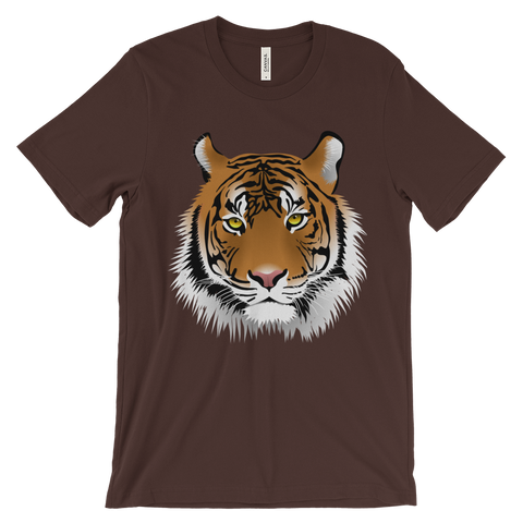 Tiger Head Unisex Short Sleeve T-shirt