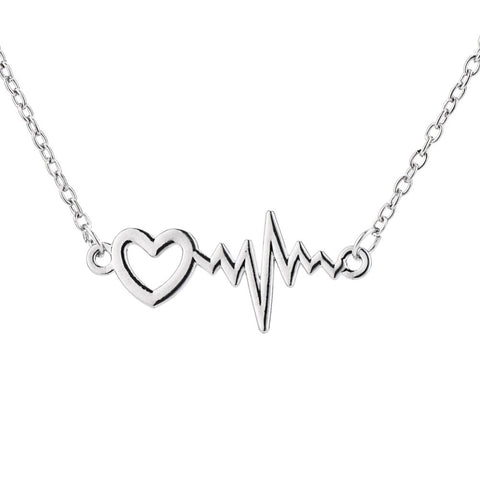Lifeline Heartbeat Pendant Necklace