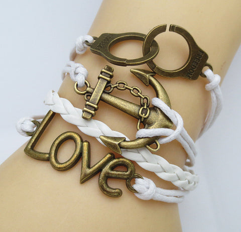 Multilayer Braided Vintage Bracelet & Bangle - Ancor and Love