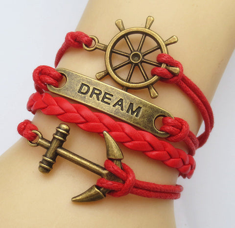 Multilayer Braided Vintage Bracelet & Bangle - Ancor and Dream