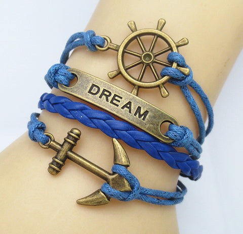 Multilayer Braided Vintage Bracelet & Bangle