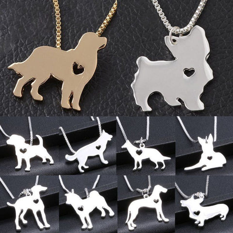 Cute Dog Pendant Design With Chain