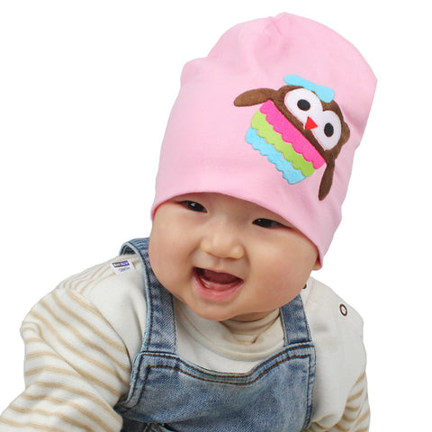 Baby Stretch Cotton Owl Hat