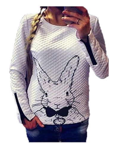 Lovely Animal Printed Long Sleeve O Neck