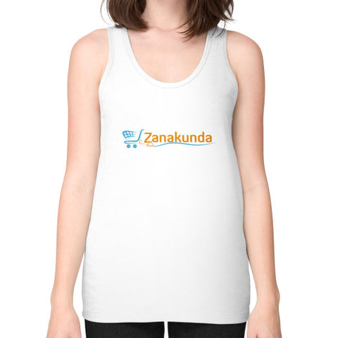 Unisex Fine Jersey Tank (on woman) White Zanakunda