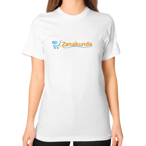 Unisex T-Shirt (on woman) White Zanakunda
