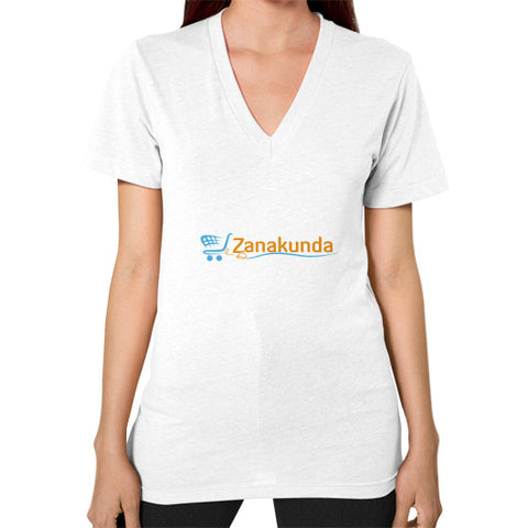V-Neck (on woman) White Zanakunda