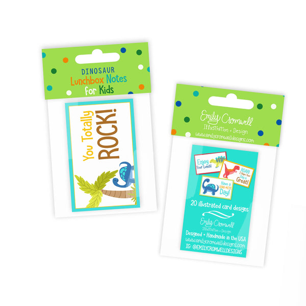 Dinosaur Lunchbox Notes for Kids