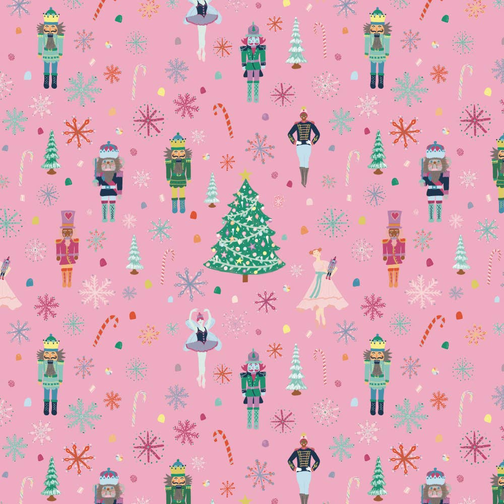 Pink Nutcracker Wrapping Sheet