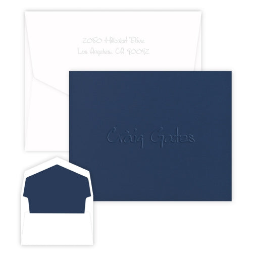 Anthony Navy Note-Embossed
