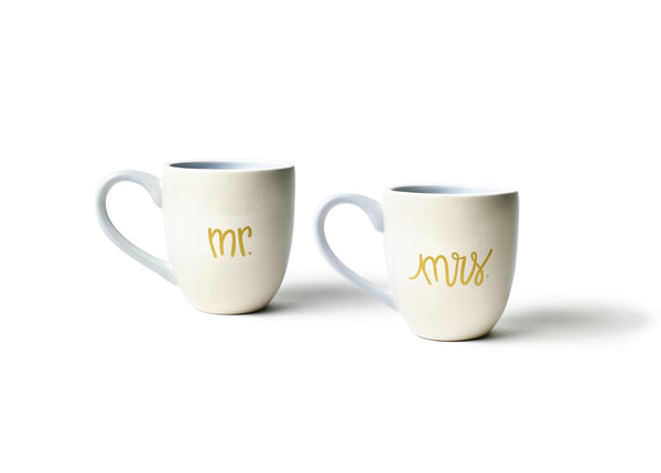 Mr. and Mrs. 4.25 Mug Ecru