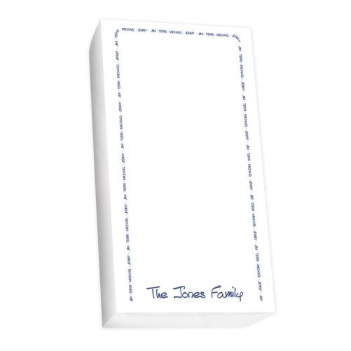 Family Arch Notepad Collection List White Refill