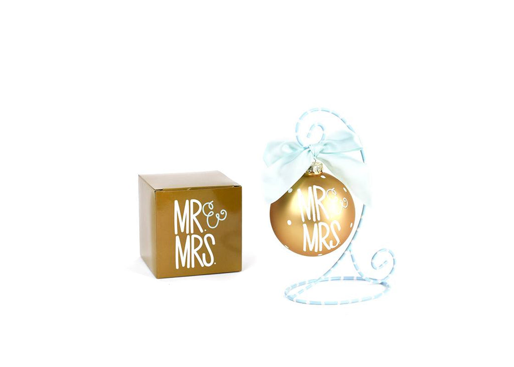 Mr and Mrs Glass Ornament