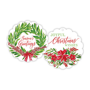 Scalloped Rounds-Seasons Greetings