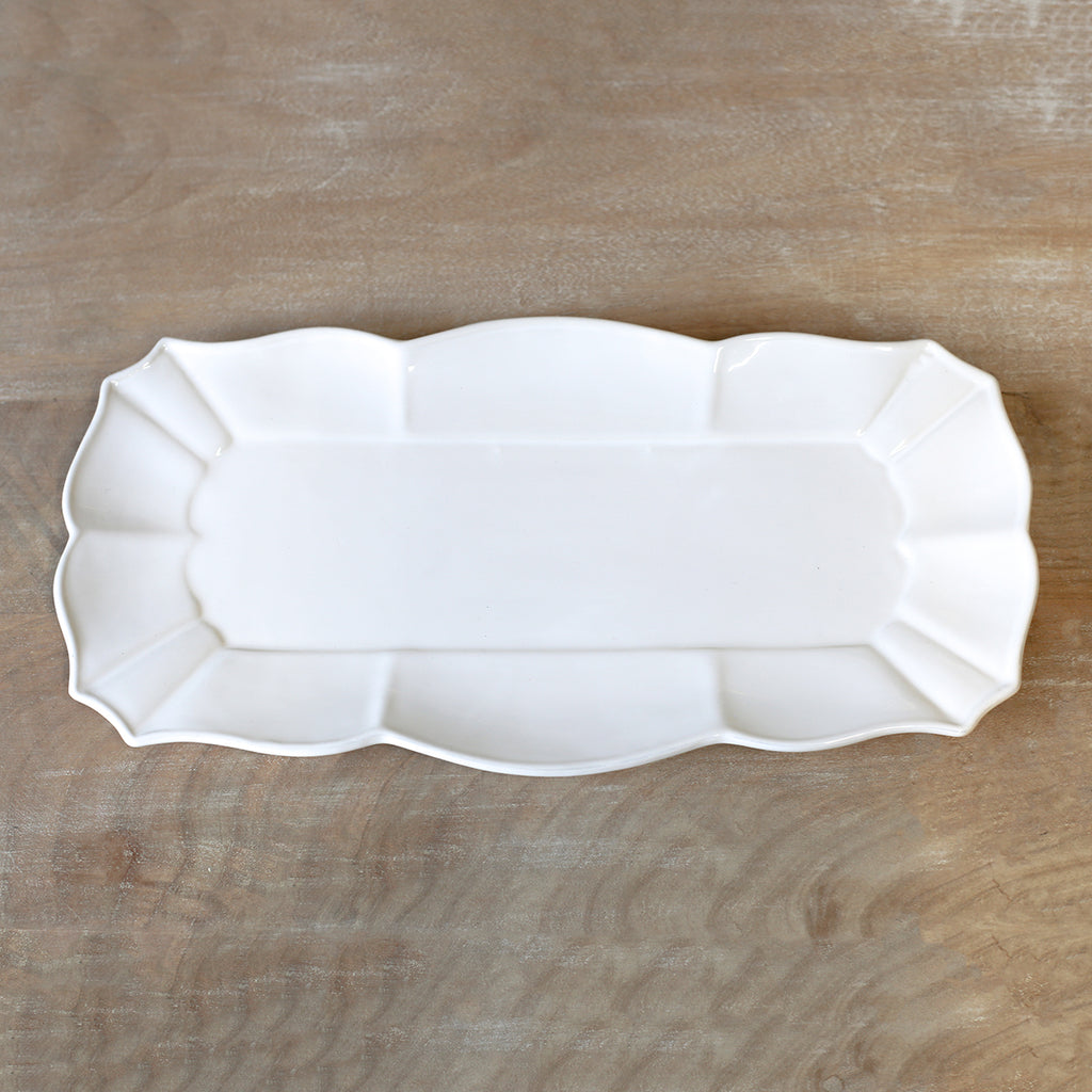 La Dolce Rectangle Platter White 16 x 8