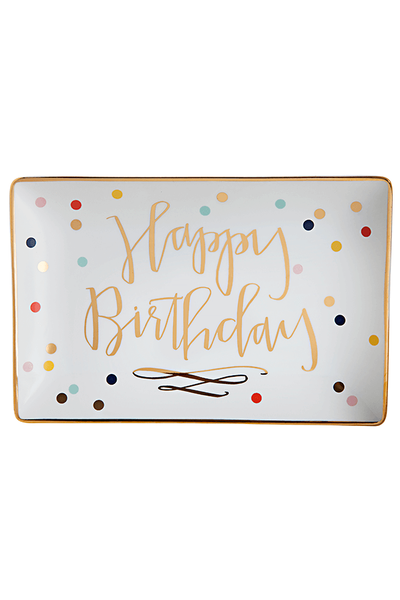 Happy Birthday Confetti Trinket Tray