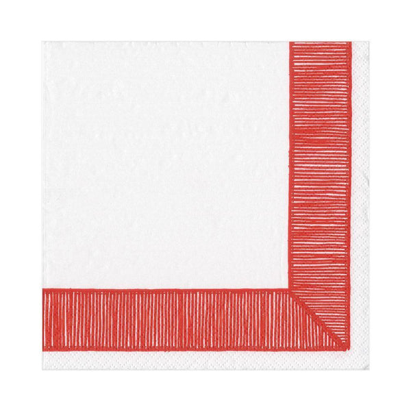 Red Ribbon Luncheon Napkins