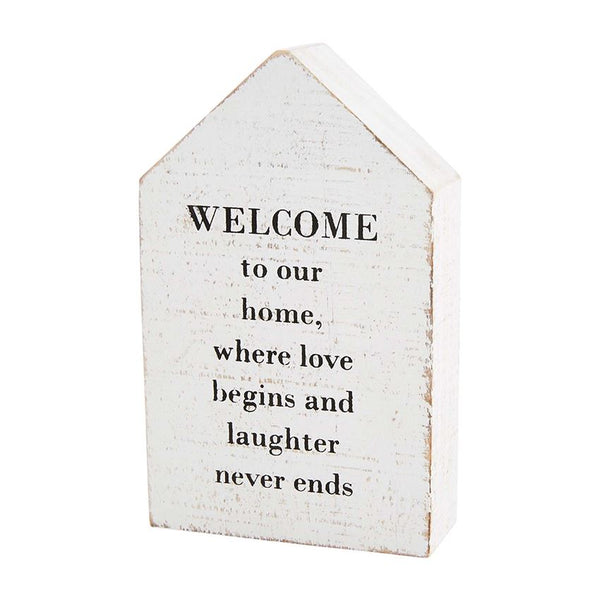 Welcome Home Family House Plaque