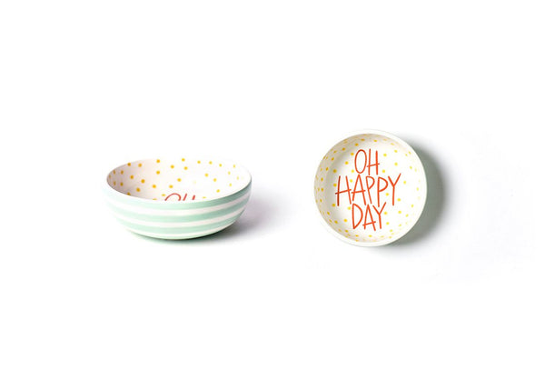 Mint Stripe Dipping Bowl Oh Happy Day