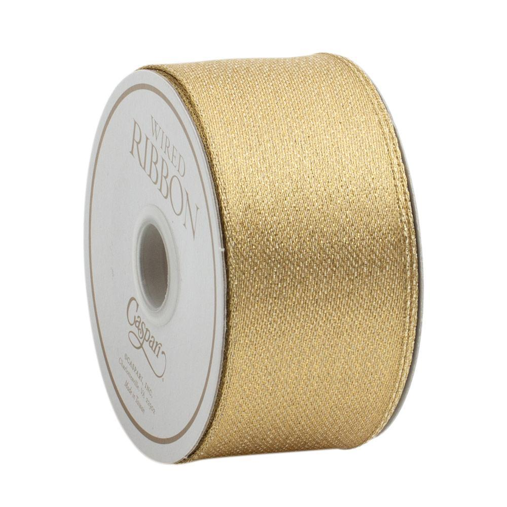 Metallic Gold/Gold Wired Ribbon