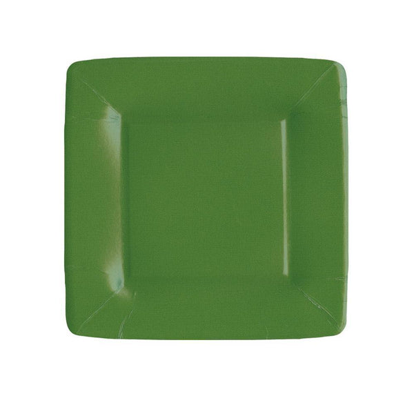 Hunter Green Salad & Dessert Square Plates