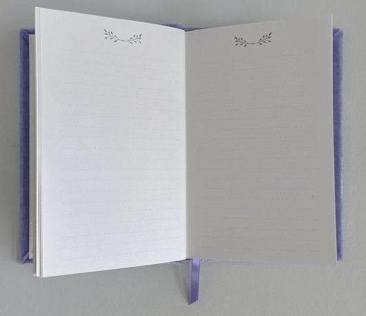 Petite Soft Velvet-Covered Vow Book