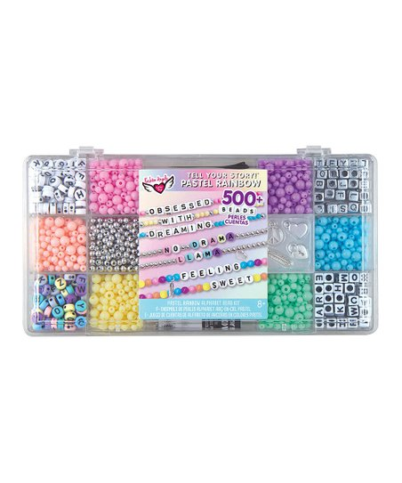 Tell Your Story Alphabet Bead Case Small Pastel