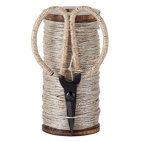 Natural Jute/Silver Twine with Scissors