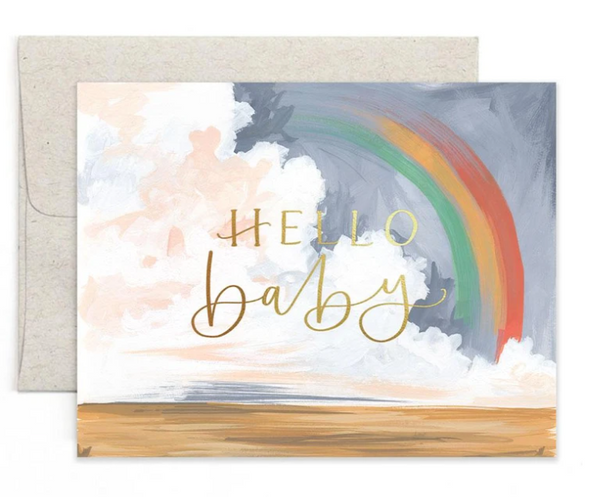 Hello Baby Rainbow Greeting Card
