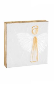 Large Angel Block Plaque