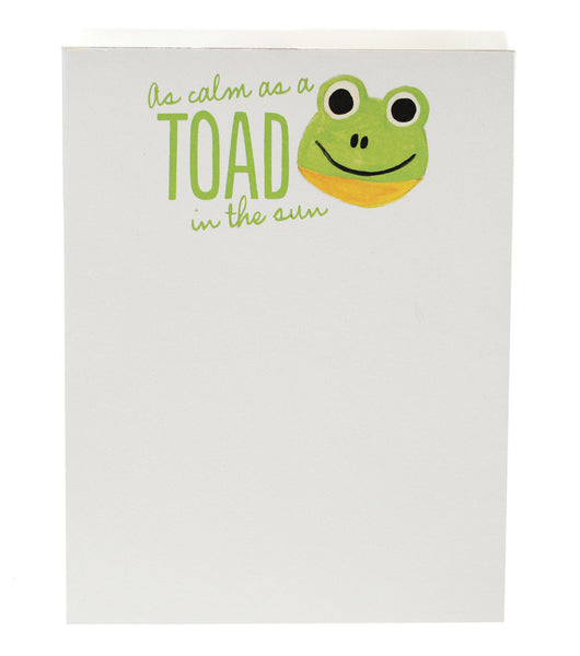 Calm as a Toad Notepad