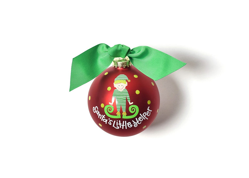 Santa's Little Helper Boy Ornament
