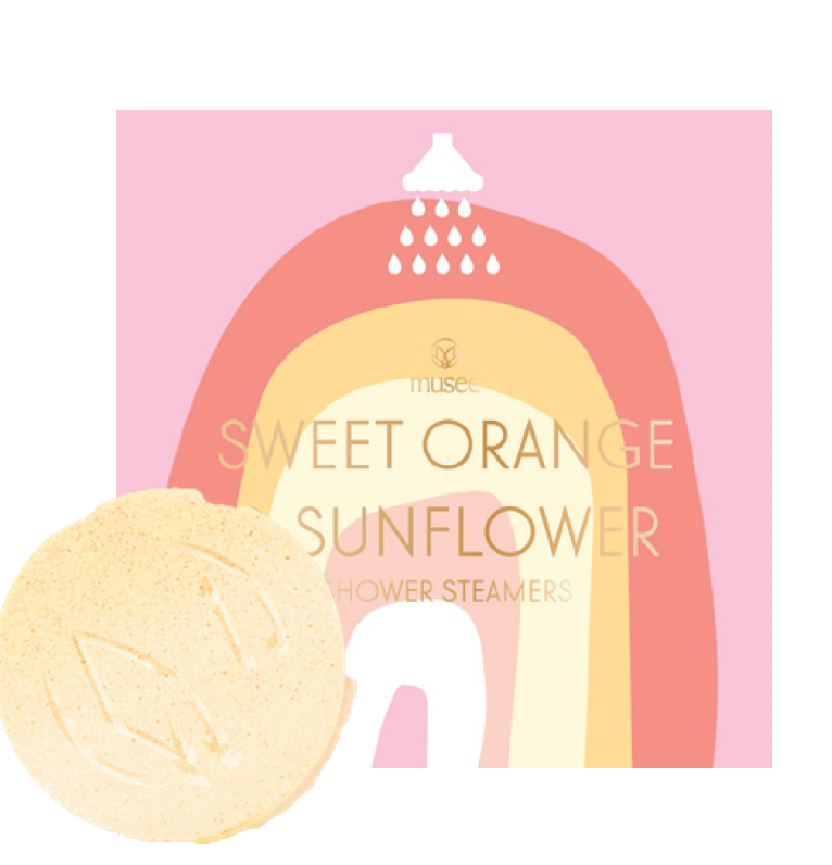 Sweet Orange and Sunflower Shower Steamers