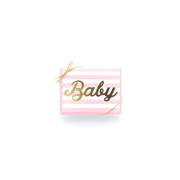 Baby Girl Stripe Thank You (Box)