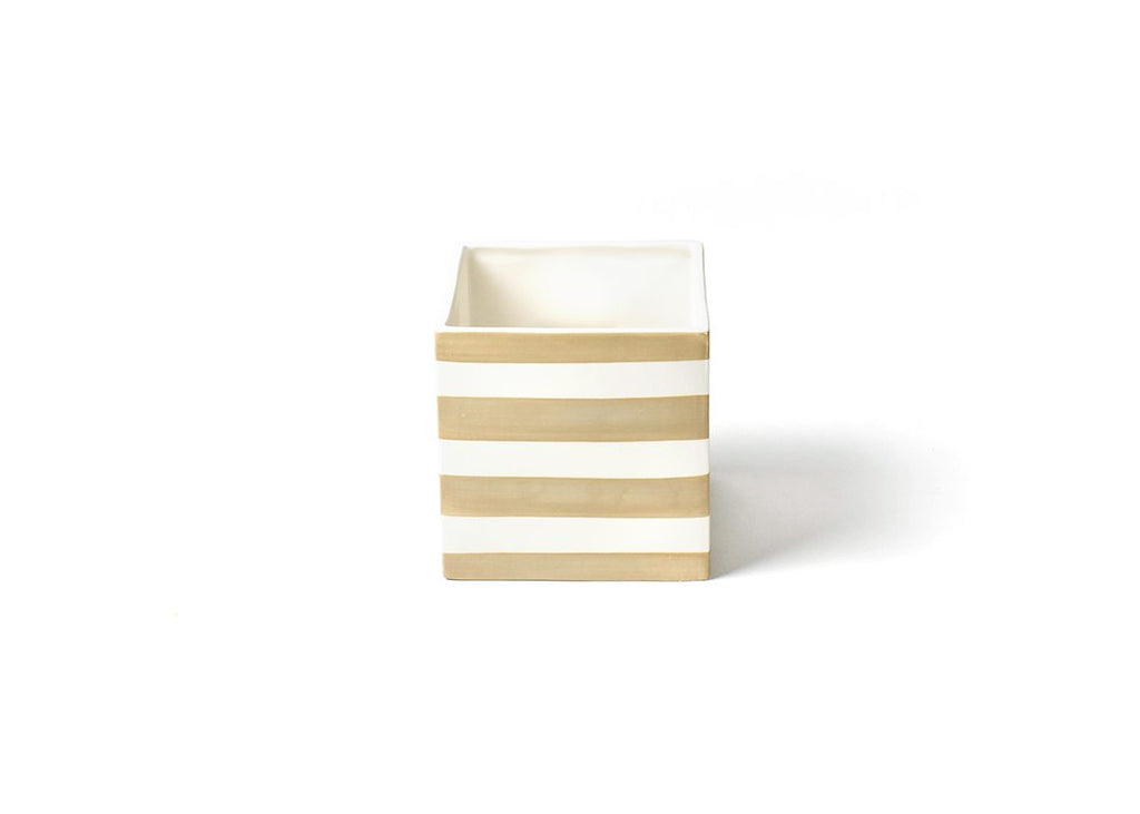 Neutral Stripe Mini Nesting Cube Medium