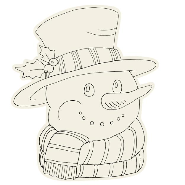 Die Cut Coloring Snowman Placemat