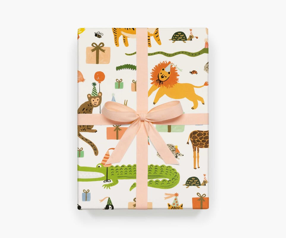 Party Animals Wrapping Sheets