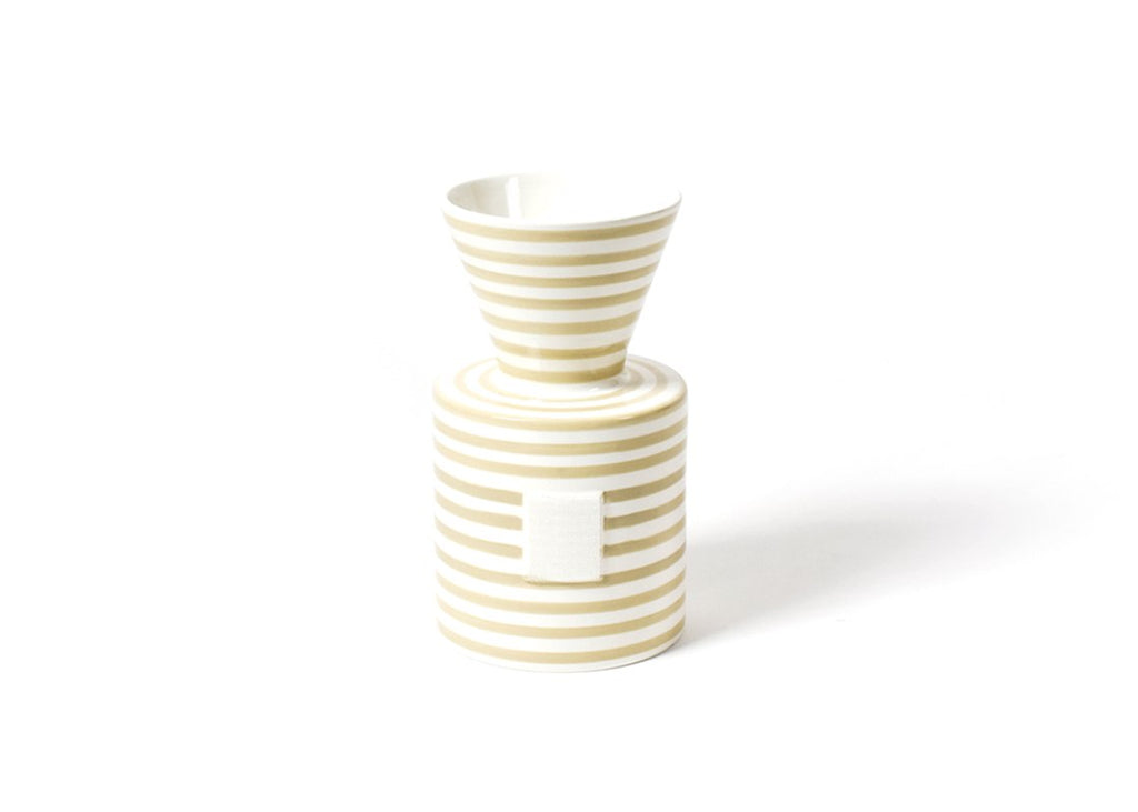 Neutral Stripe Mini Vase