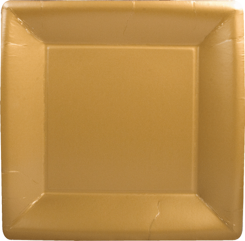 Solid Gold Dinner Plates Square