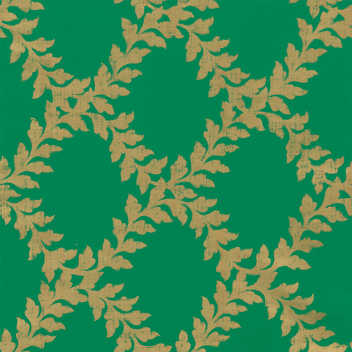 Trellis Green/Gold Wrap
