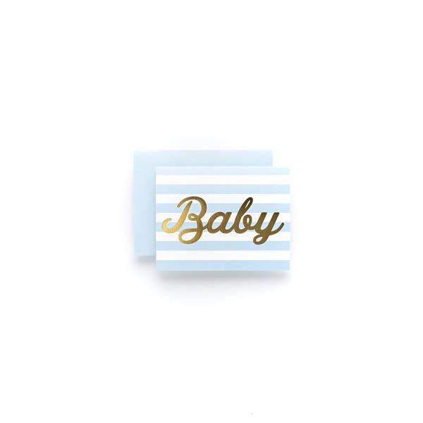 Baby Boy Stripe Thank You (Box)