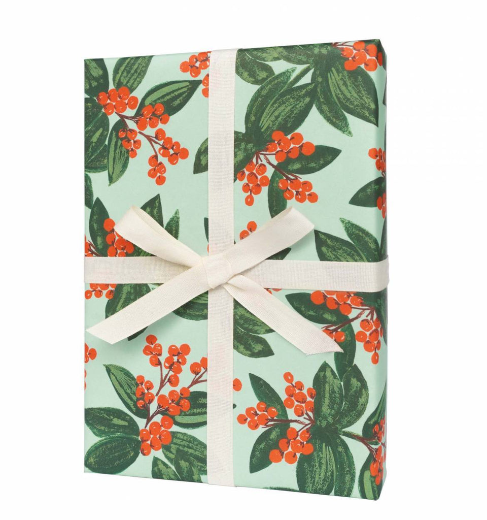 Winterberries Wrapping Sheet