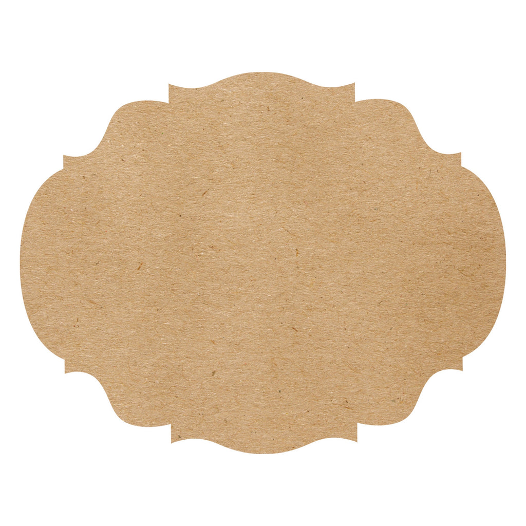 Die Cut Kraft French Frame Placemat