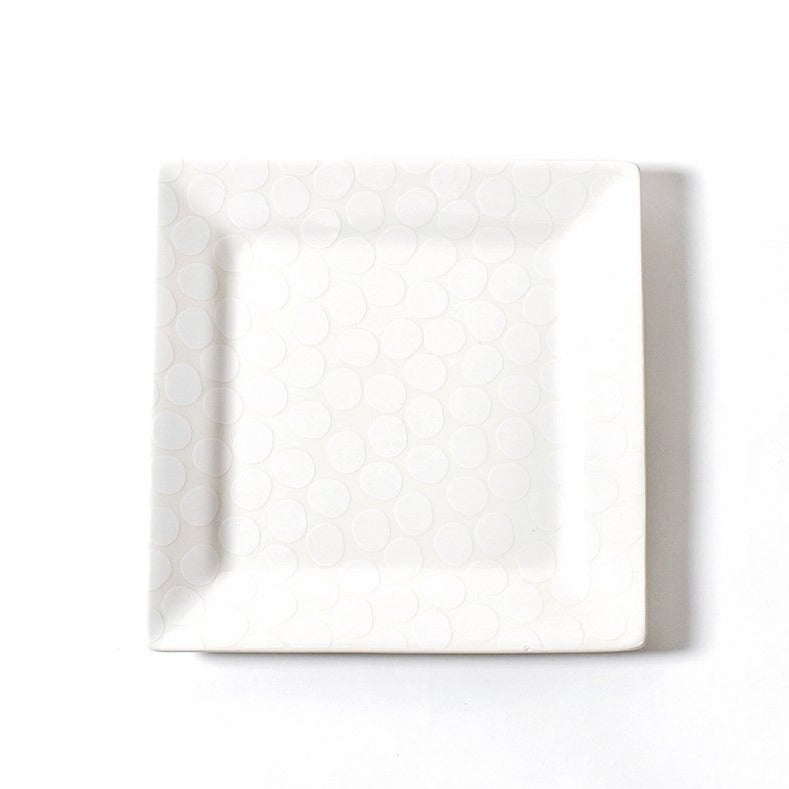 Pebble Square 12 Platter White
