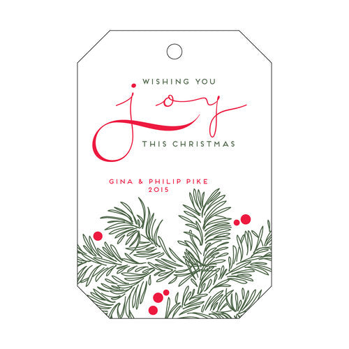 Joy Vine Gift Tag