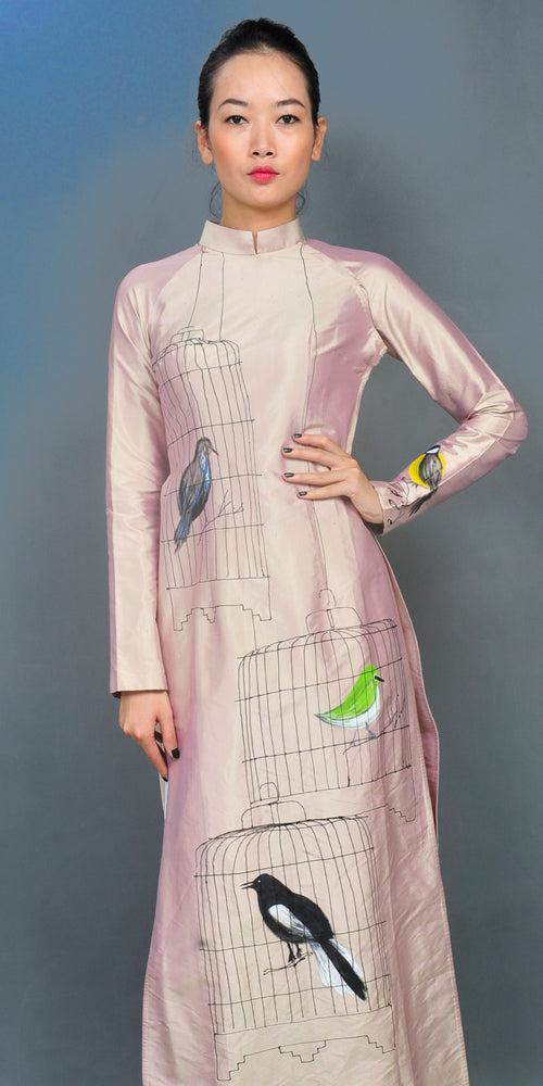 AD20 - bird cages ao dai